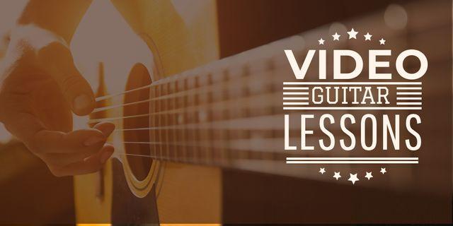 Ontwerpsjabloon van Twitter van Video guitar lessons