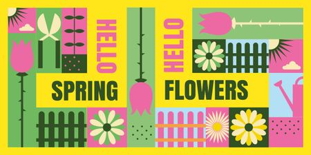 Template di design Bright blooming flowers Image