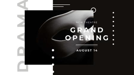 Modèle de visuel Theatre Opening Announcement with Theatrical Mask - FB event cover