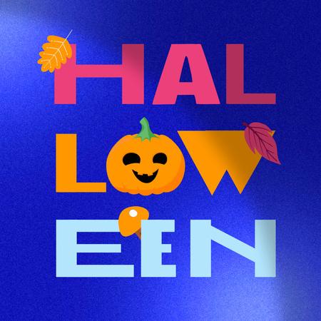 Modèle de visuel Halloween Celebration Announcement with Pumpkin and Foliage - Instagram
