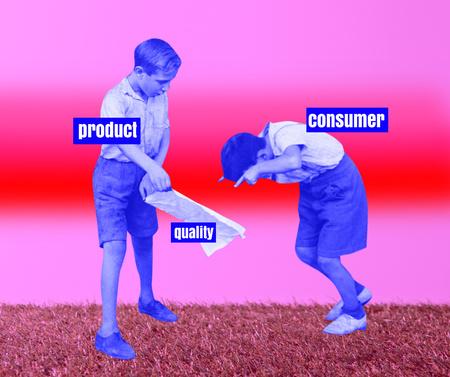 Modèle de visuel Funny Joke about Commerce - Facebook