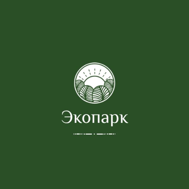 Trees in Forest with Green Icon Animated Logo – шаблон для дизайна
