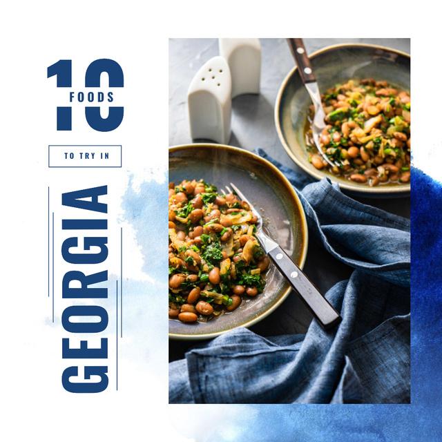 Modèle de visuel Meal with cooked beans - Instagram