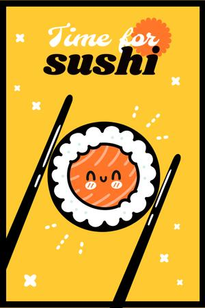 Cute Sushi Roll Character Pinterest Modelo de Design