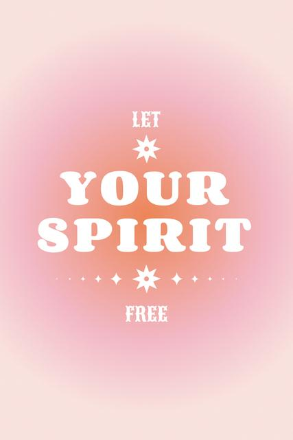 Plantilla de diseño de Astrological Inspirational Phrase on pink Pinterest