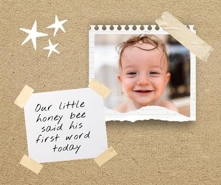 Cute Smiling Little Boy Facebook – шаблон для дизайна