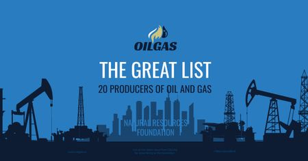 Producers of oil and gas Facebook AD Modelo de Design