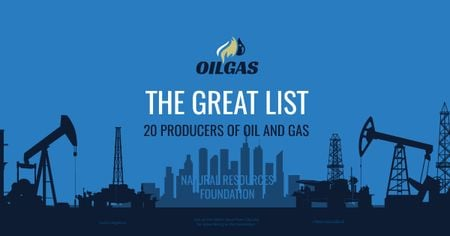 Producers of oil and gas Facebook AD – шаблон для дизайна