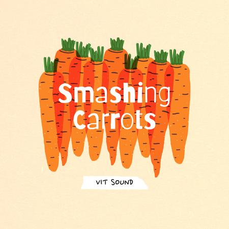 Music Album Promotion with Carrots Illustration Album Coverデザインテンプレート