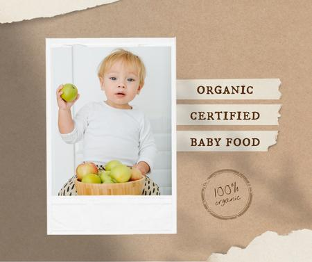 Modèle de visuel Organic Baby Food Offer with Adorable Child - Facebook