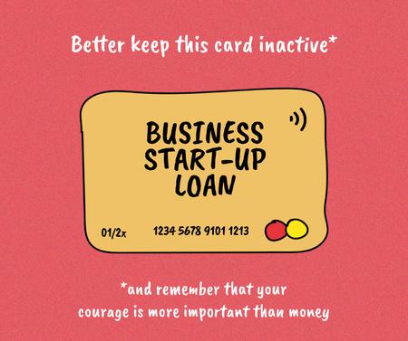 Designvorlage Start-up Loan concept with Credit Card für Facebook