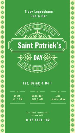 Saint Patrick's Day card Instagram Storyデザインテンプレート