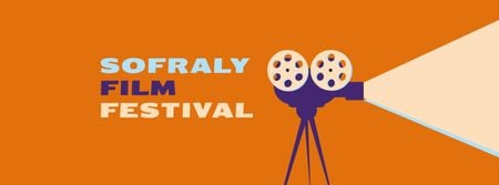 Ontwerpsjabloon van Facebook cover van Film Festival Announcement with Vintage Projector