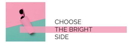 Plantilla de diseño de Sunglasses Sale Ad Stylish Pink Glasses Twitter