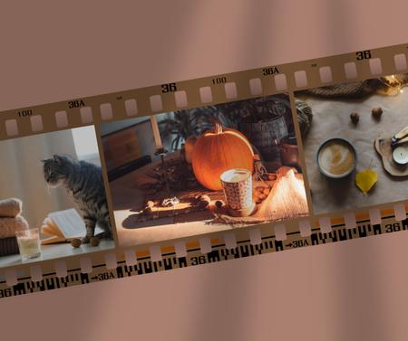 Platilla de diseño Halloween Inspiration with Holiday Decorations and Cat Facebook