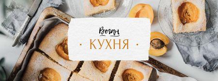 Vegan Kitchen Concept with Apricots Facebook cover – шаблон для дизайна