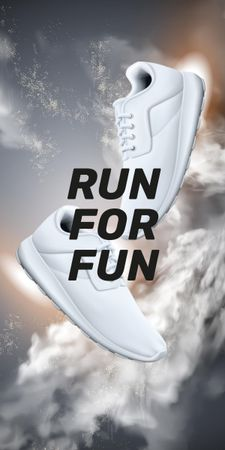 Motivational Quote with pair of sneakers Graphic – шаблон для дизайну