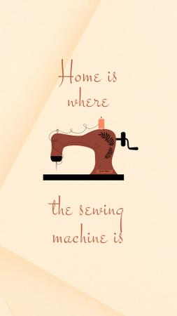 Plantilla de diseño de Cute Phrase about Sewing Machine Instagram Story