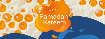 Plantilla de diseño de Ramadan Kareem Holiday Announcement Facebook cover