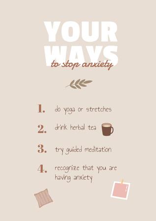 Plantilla de diseño de Mental Health Inspirational List Poster