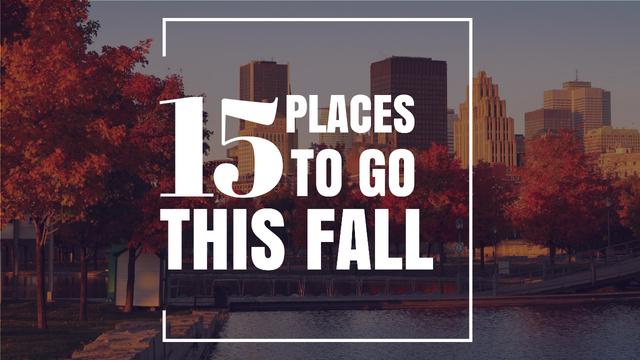 Autumn Season in City Inspiration Youtube Thumbnail Modelo de Design