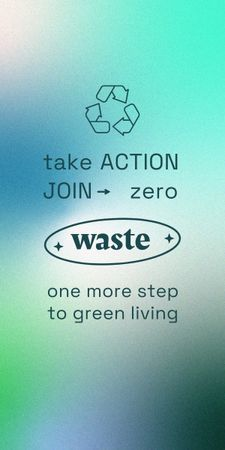 Modèle de visuel Zero Waste concept with Recycling Icon - Graphic