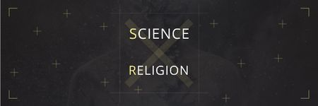 Ontwerpsjabloon van Email header van Citation about science and religion