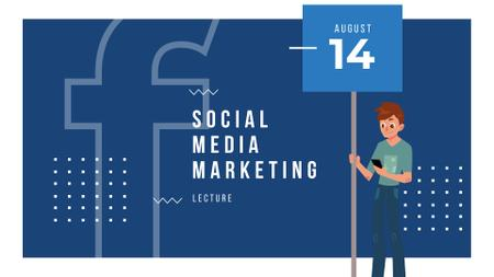 Social Media Marketing Lecture Ad FB event cover Tasarım Şablonu