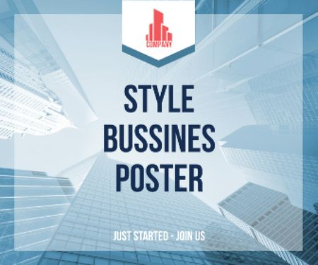 Ontwerpsjabloon van Large Rectangle van Style business poster