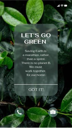 Eco Concept with Green Plant Instagram Story Modelo de Design