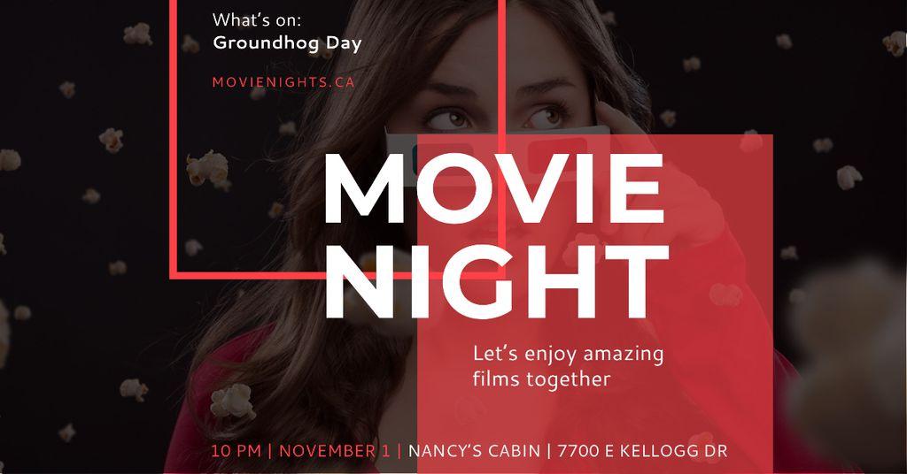 Movie night event Announcement on Groundhog Day — Crear un diseño