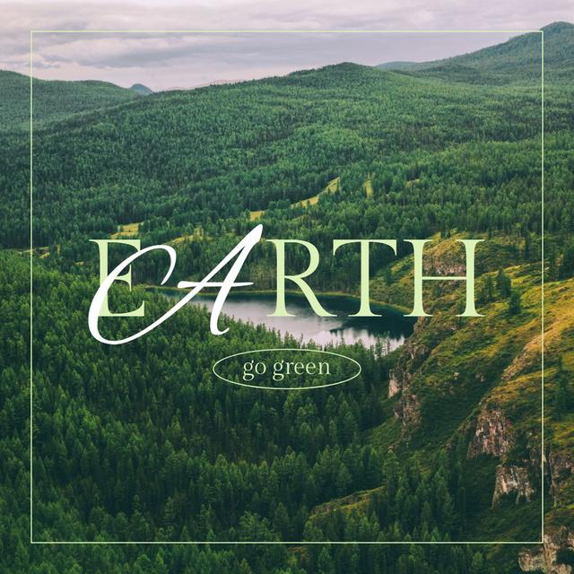 Eco Concept with Green Mountains Instagram – шаблон для дизайну