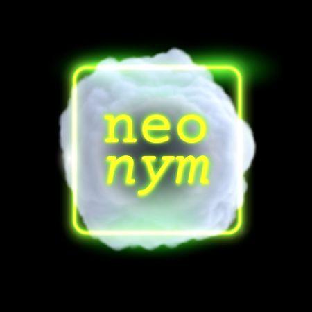 Bright Neon Abstraction Illustration Logo – шаблон для дизайну