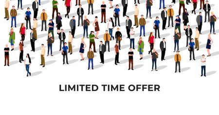 Sale Offer with People in Crowd Facebook AD Modelo de Design