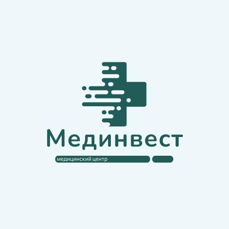 Healthcare Clinic with Medical Cross Icon Animated Logo – шаблон для дизайна