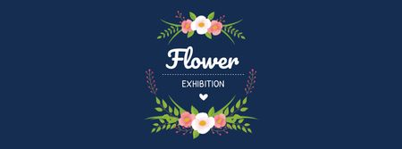 Flower Exhibition Event Announcement Facebook coverデザインテンプレート