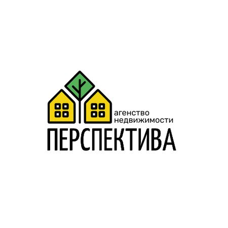 Real Estate Agency Ad with Residential Houses Logo – шаблон для дизайна