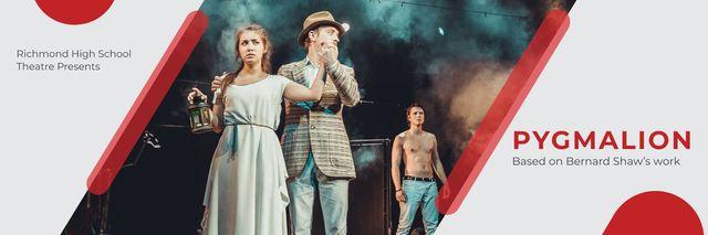 Theater Invitation Actors in Pygmalion Performance Twitter – шаблон для дизайна