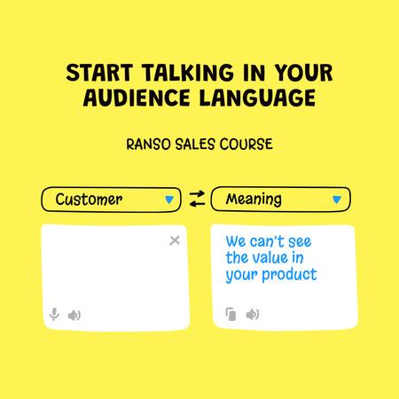 Marketing Courses Funny Promotion Instagram – шаблон для дизайну