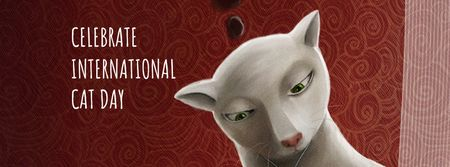 Plantilla de diseño de Cat Day Celebration Announcement Facebook cover