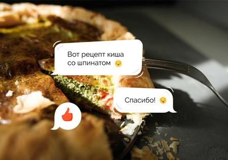 Ontwerpsjabloon van VK Universal Post van Delicious Quiche with Spinach