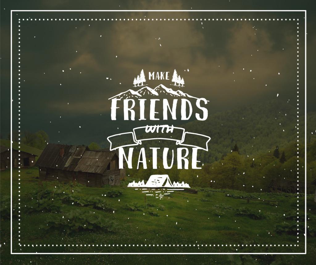 Nature Quote Scenic Mountain View — Создать дизайн