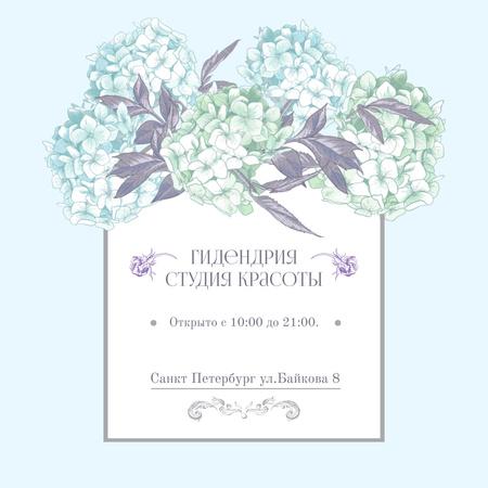Beauty studio Ad with Flowers illustration Instagram – шаблон для дизайна