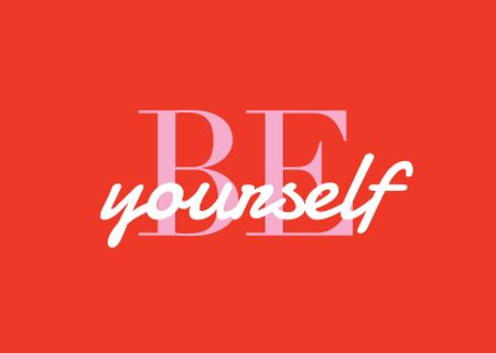 Plantilla de diseño de Inspirational Phrase on Red Card