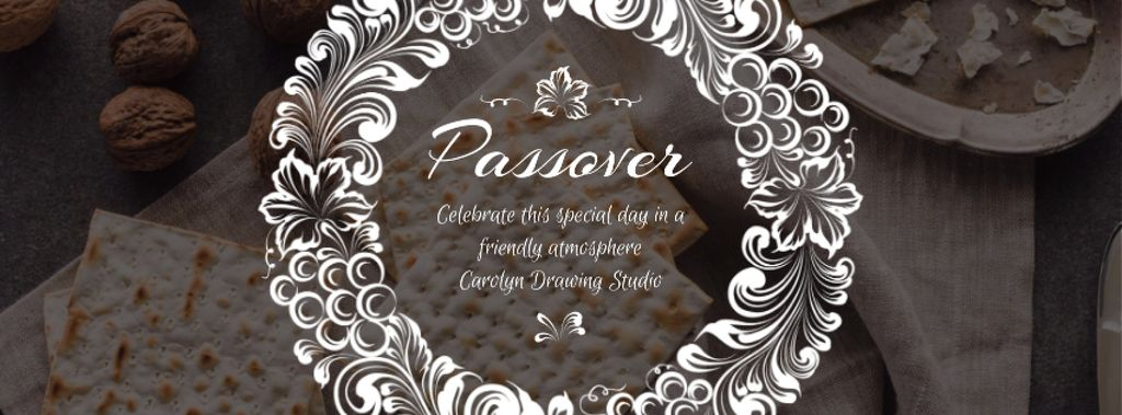 Happy Passover Unleavened Bread and Nuts — Modelo de projeto