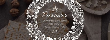 Ontwerpsjabloon van Facebook Video cover van Happy Passover Unleavened Bread and Nuts