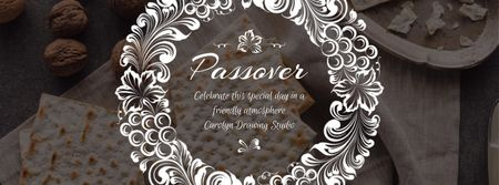 Happy Passover Unleavened Bread and Nuts Facebook Video cover Design Template