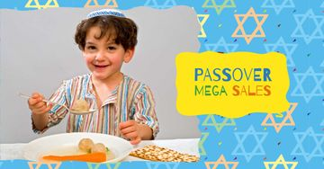 Passover Sale with Jewish Boy