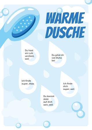 Warm Shower Water Drops Poster Design Template