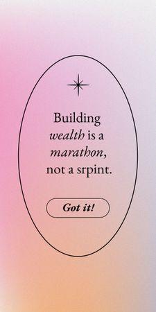 Wealth Inspirational Quote Graphic – шаблон для дизайну